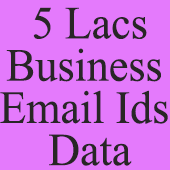 5 Lacs Business E-Mail Id's - All India (In Excel Format)