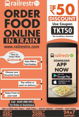 Order Restaurant Food in Train